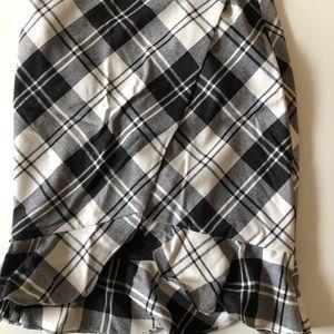 Intermix plaid skirt
